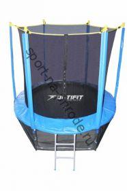 Батут OPTIFIT 8FT Like Blue с сеткой и лестницей