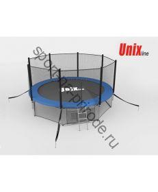 Батут Unix 8 ft с сеткой и лестницей Blue
