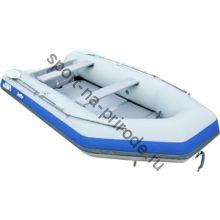 Лодка JET! надувная, модель SYDNEY 370 PL, цвет серый/синий