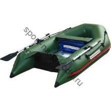Лодка NISSAMARAN надувная, модель MUSSON 230, цвет зеленый (дерев. пол) P/L