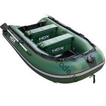 Лодка HDX надувная, модель CARBON 240 , цвет зелёный, (дерев. пол) P/L