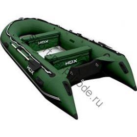 Лодка HDX надувная, модель OXYGEN 470 AL, цвет зелёный