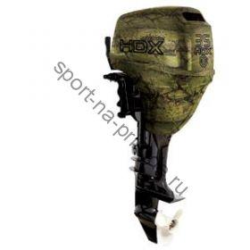 Лодочный мотор 2-х тактный HDX T 35 FWS, камуфляж - лес