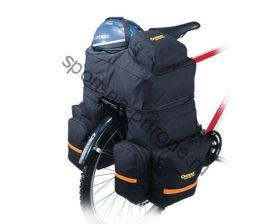 Сумка и рюкзак на задний багажник велосипеда. Рюкзак имеет два отделения, комфортную лямку. Сумка на багажник с шестью отделениями