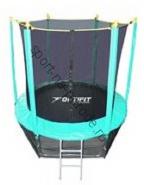 Батут OPTIFIT 8FT Like Green с сеткой и лестницей