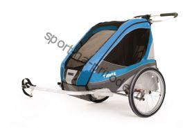 Коляска Thule Chariot Corsaire2/Корсар2, в компл. с велосцепкой, голубой