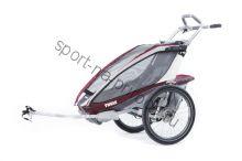 Коляска Thule Chariot CX1/Си Икс1, в комплекте с велосцепкой, бордовый, 14-