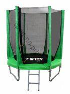 Батут OPTIFIT JUMP 8ft 2,44 м зеленый