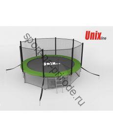 Батут Unix 8 ft с сеткой и лестницей Green