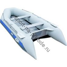 Лодка JET! надувная, модель SYDNEY 430 PL, цвет серый/синий