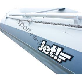 Лодка JET! надувная, модель SYDNEY 300 PL, цвет серый