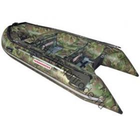 Лодка NISSAMARAN надувная, модель MUSSON 290, цвет зелёный-камуфляж  (дерев. пол) P/L