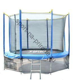 Батут OPTIFIT 12FT Like Blue с сеткой и лестницей